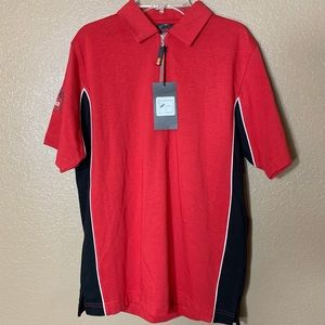 Racing Aprilia short sleeve red polo shirt